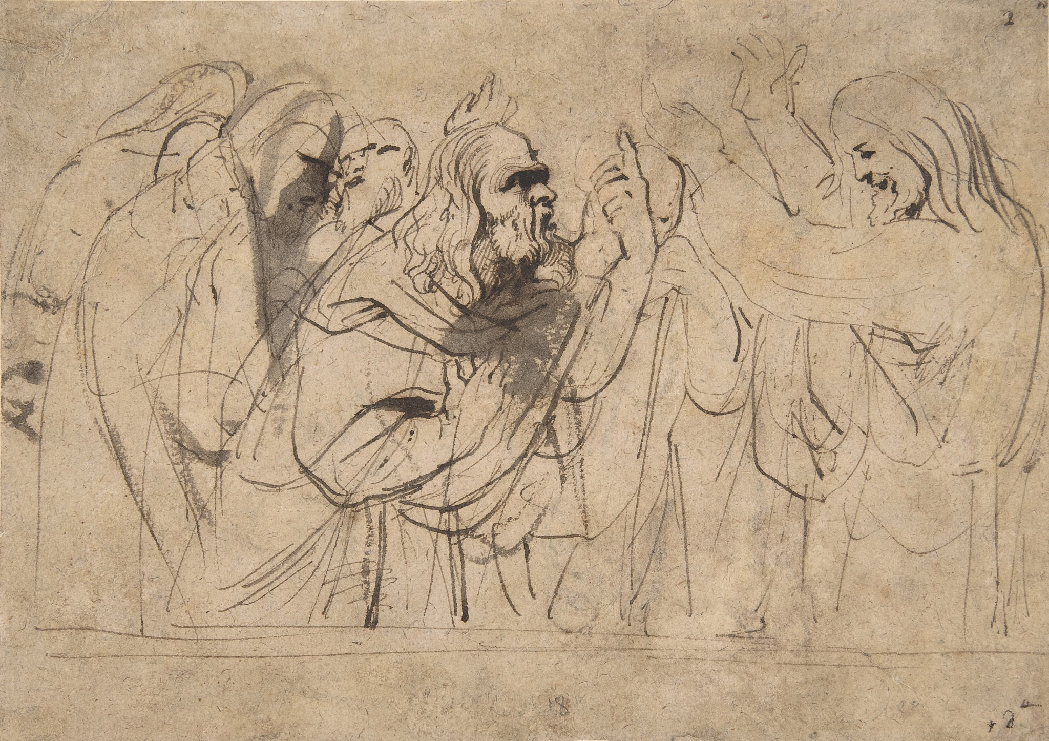 """""""Christ and the Pharisees,"""" by Anthony van Dyck. Metropolitan Museum of Art/Wikimedia Commons."""