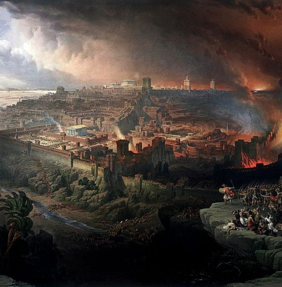 Siege and destruction of Jerusalem by David Roberts