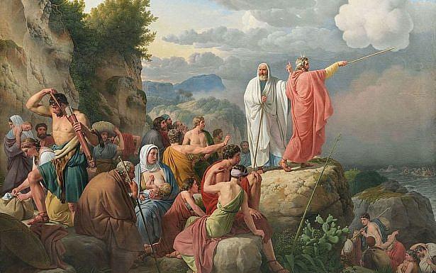 בני ישראל חונים על שפת ים סוף (כריסטופר אקרסברג, 1815. תמונה: ויקיפדיה.
