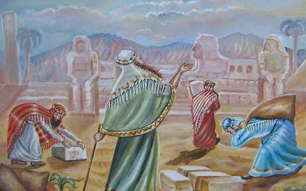 """""""וידבר משה כן אל- בני ישראל ולא שמעו אל- משה מקוצר רוח ומעבודה קשה"""" [שמות ו',ט'] .[פרשת וארא] ציור: אהובה קליין"""
