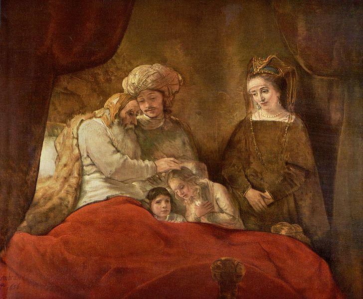 יעקב מברך את בני יוסף ציור מאת רמברנדט, ויקיפדיה