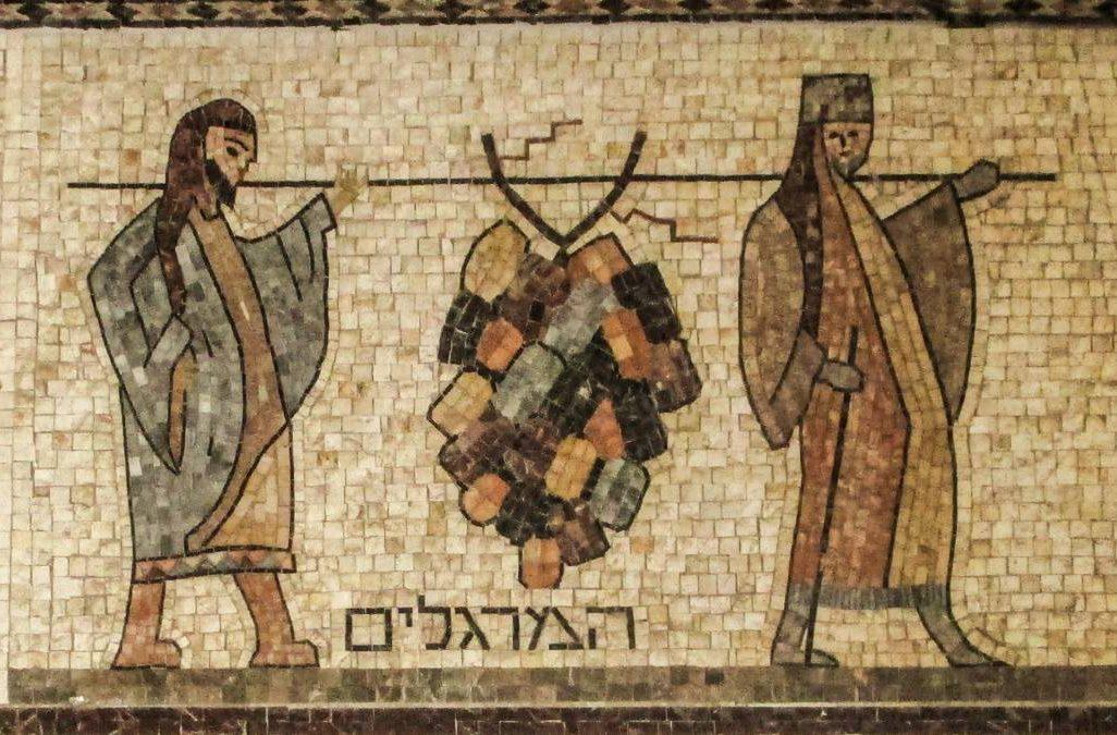 """פסיפס בבית הכנסת התוניסאי בעכו. (צילום: ד""""ר אבישי טייכר. מתוך אתר פיקיוויקי)"""