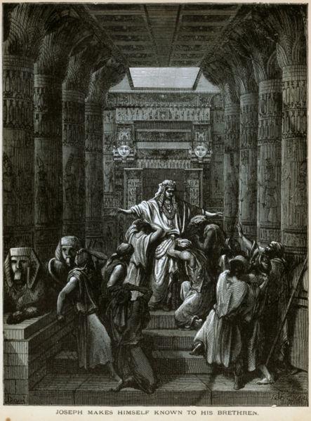 יוסף מגלה לאחיו את זהותו האמיתית. ציור מאת גוסטב דורה