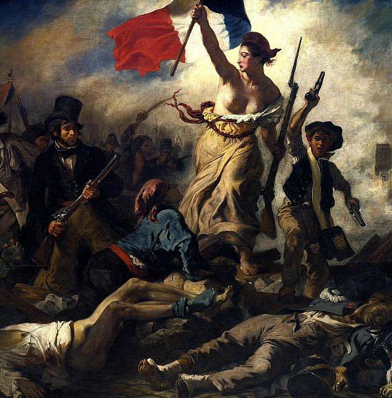 """""""החירות מובילה את העם"""" ציור של אז'ן דלקרואה, מתוך אתר Pixabay"""