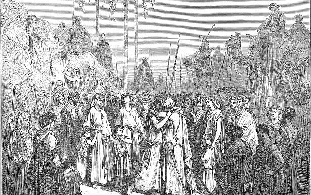 פגישת יעקב ועשיו. ציורו של גוסטב דורה, ויקיפדיה