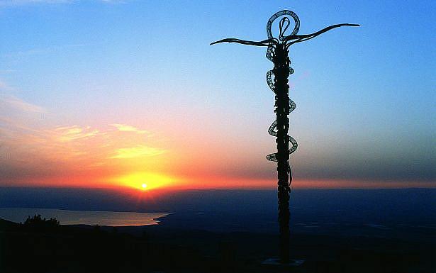 פסל נחש הנחושת בהר נבו, ויקיפדיה