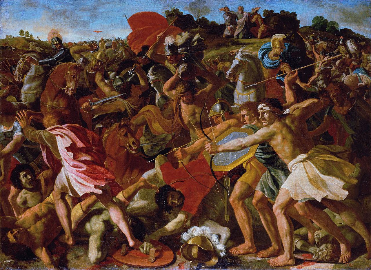 מלחמת יהושע בעמלק. ציור מאת ניקולס פוסין