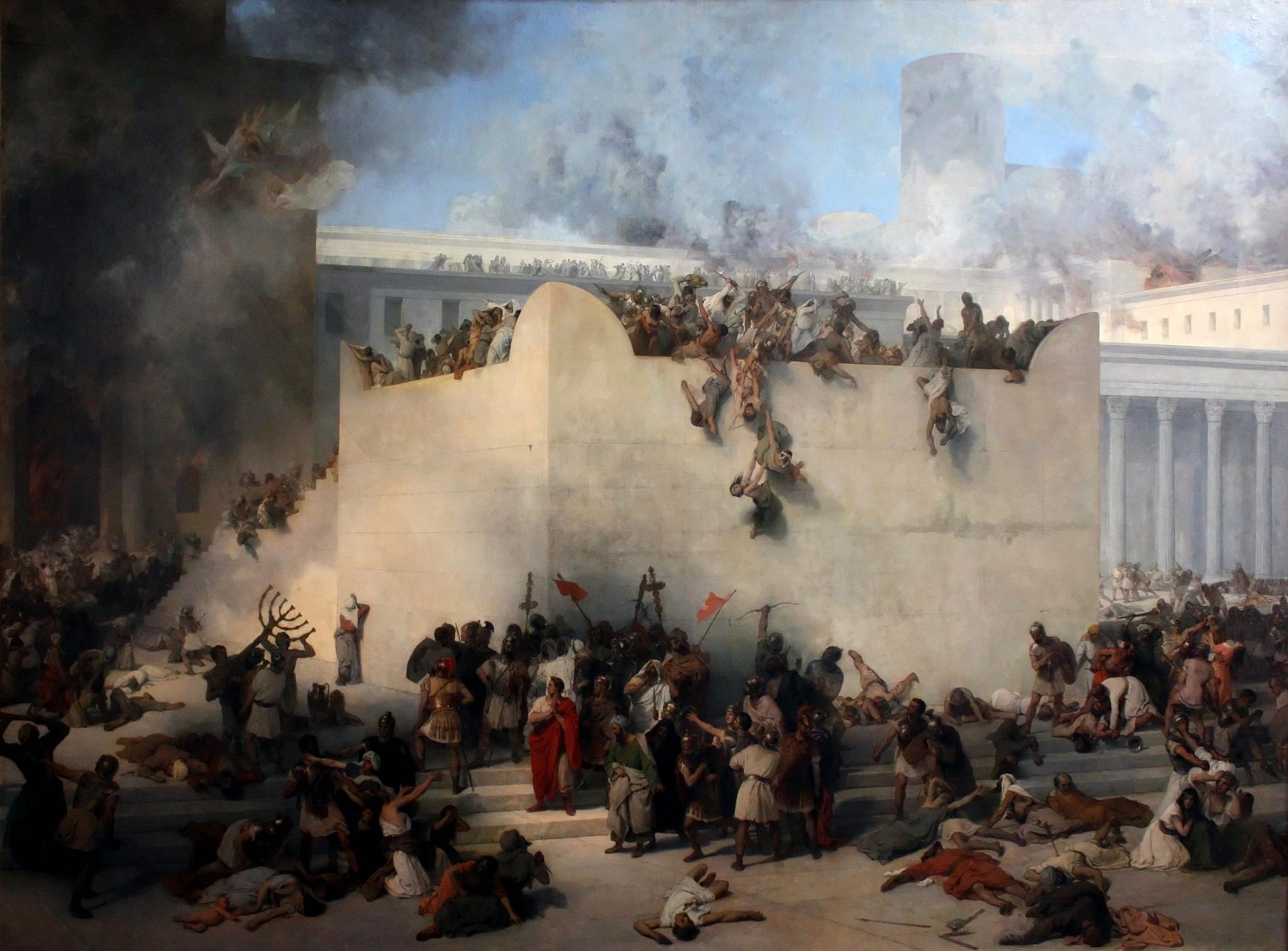 חורבן הבית. ציור מאת פרנצ'סקו אייץ