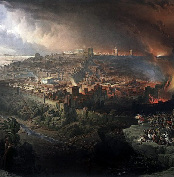 המצור וחורבן ירושלים. ציור מאת דייויד רוברטס