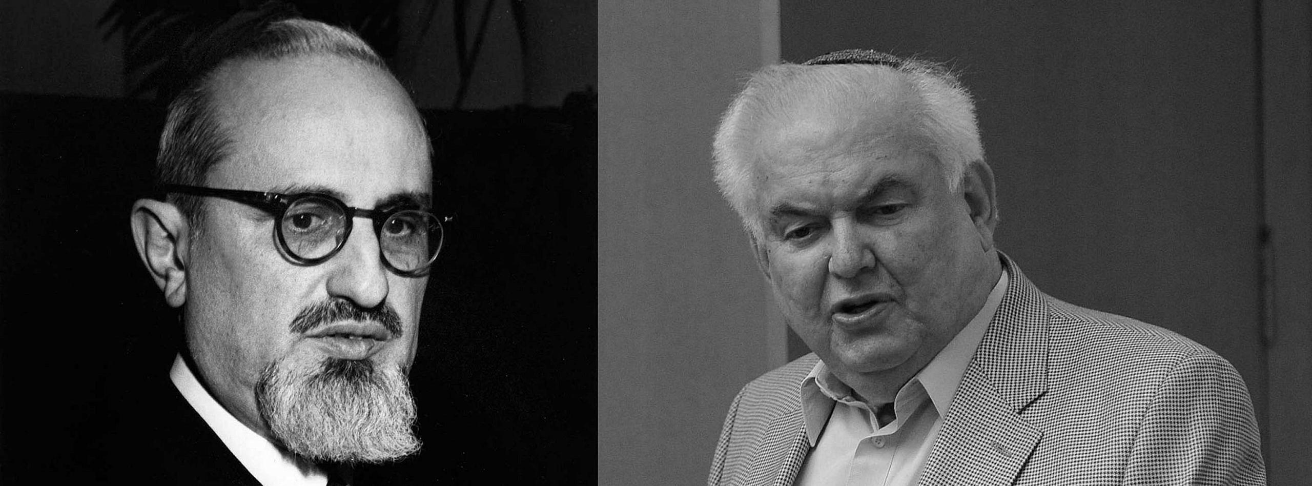 הרב דוד הרטמן והרב סולוביציק