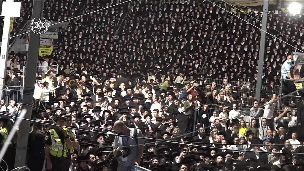 """אירוע ל""""ג בעומר בהר מירון 2021, צילום משטרת ישראל"""