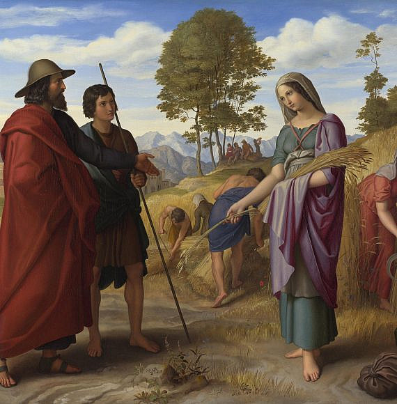 Ruth in Boaz's Field by Julius Schnorr von Carolsfeld, תמונה: ויקיפדיה